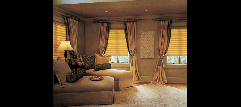 Relaxation Room with Drapes