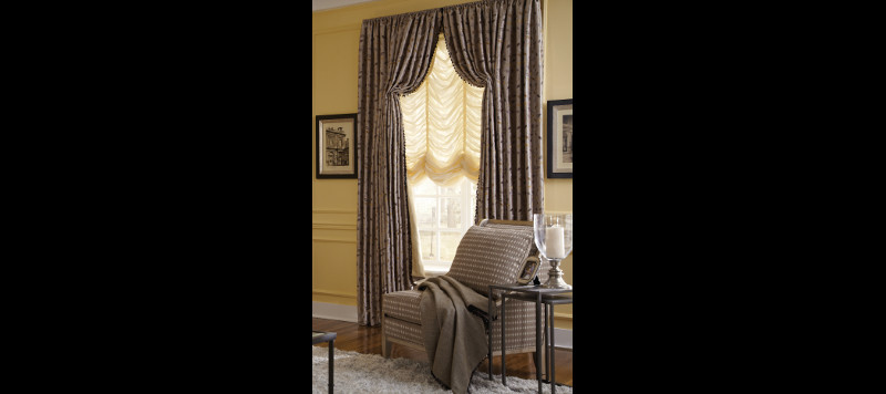 Drapes in a Seating Area
