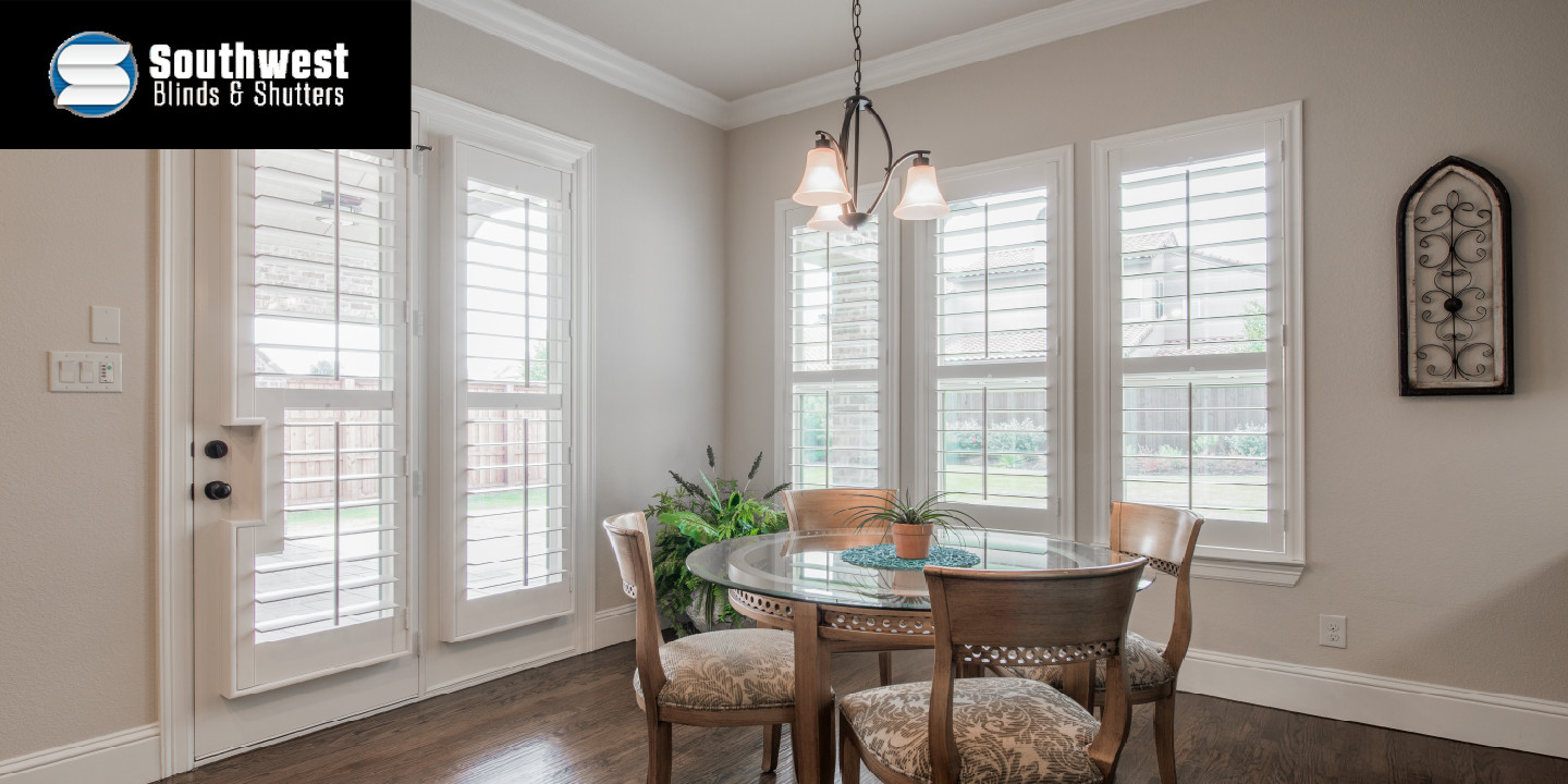 Dining Area with Shuttered Windows