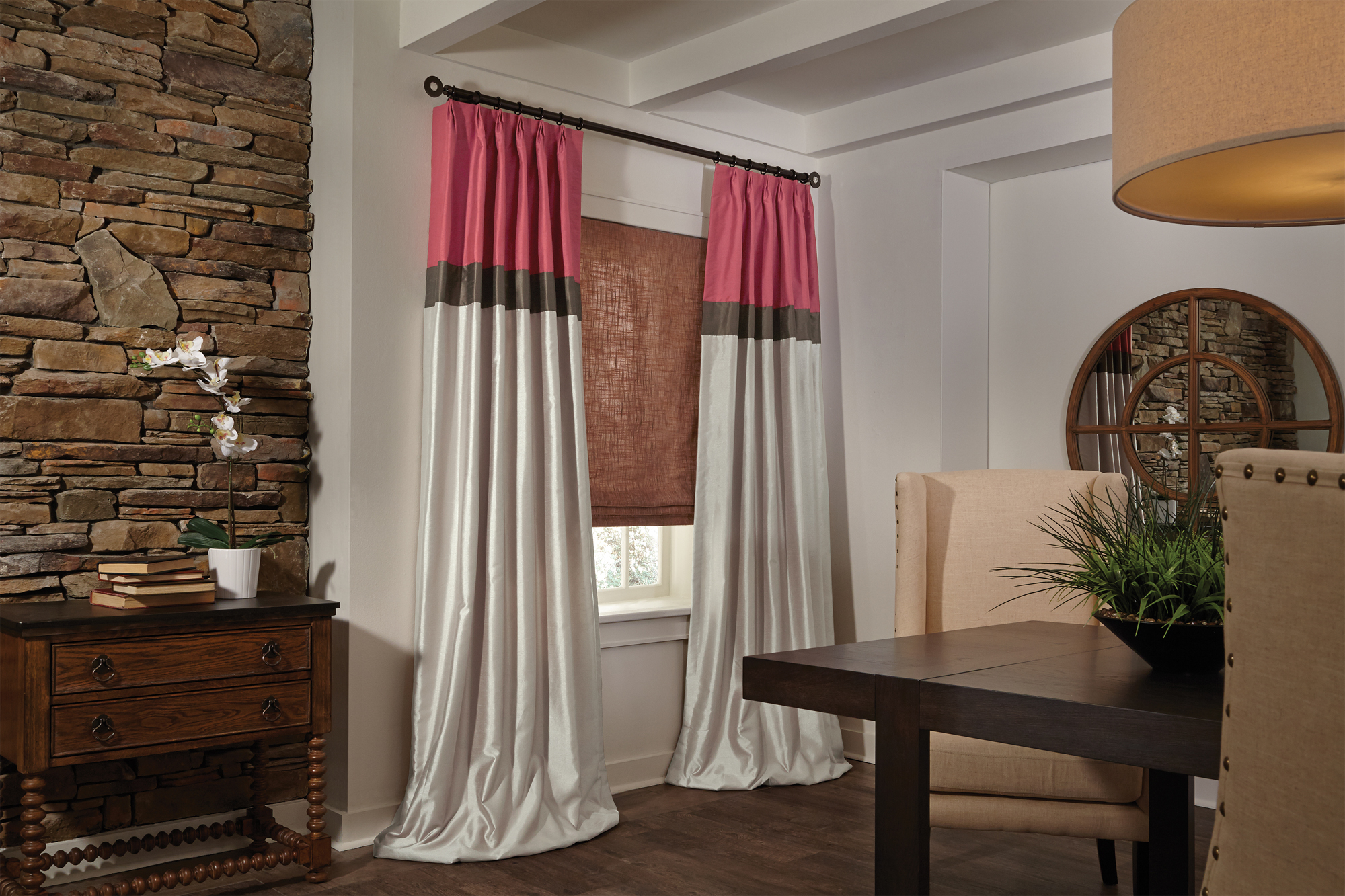 Drapes in Dining Area