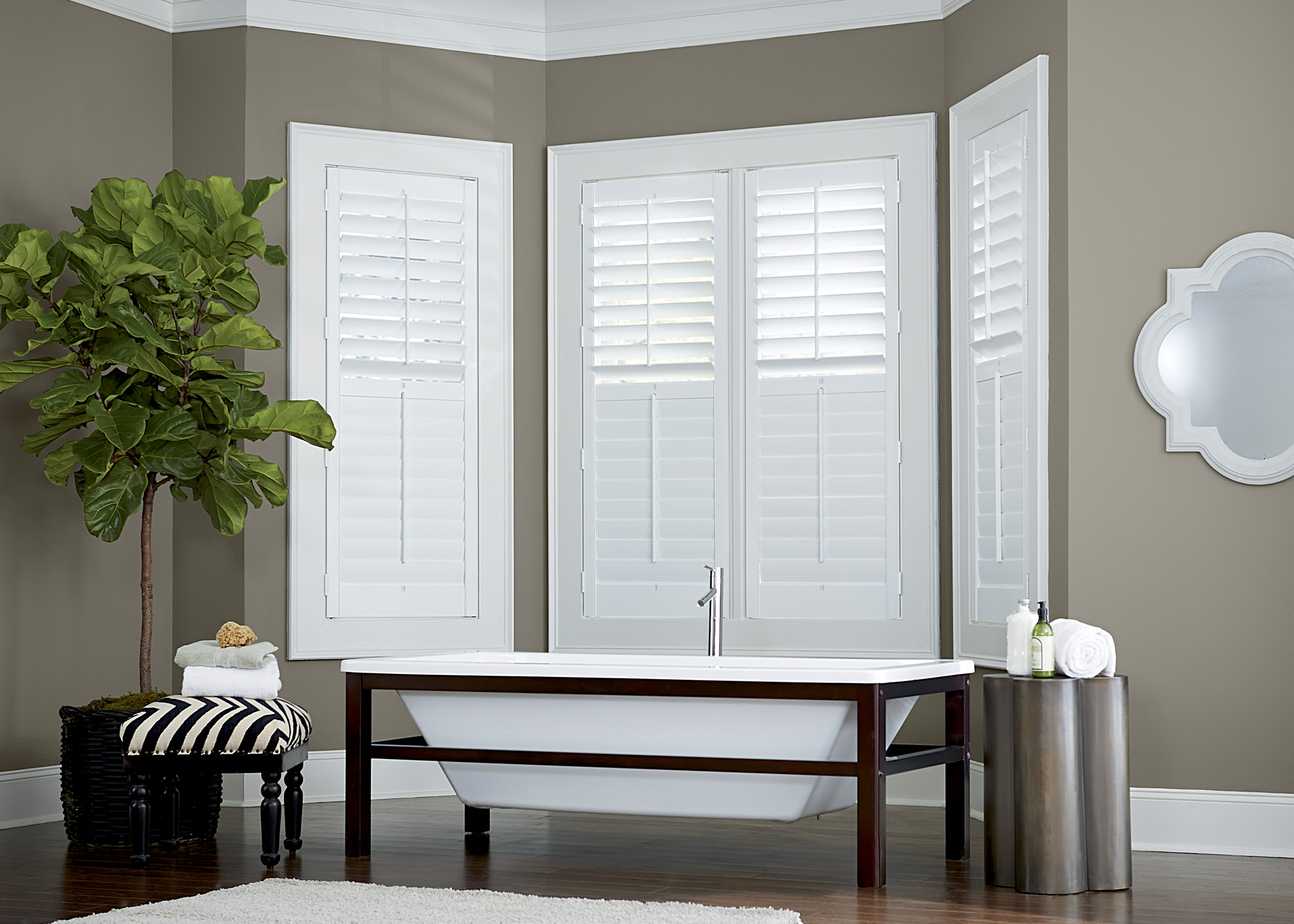 Composite Shutters in Bathroom