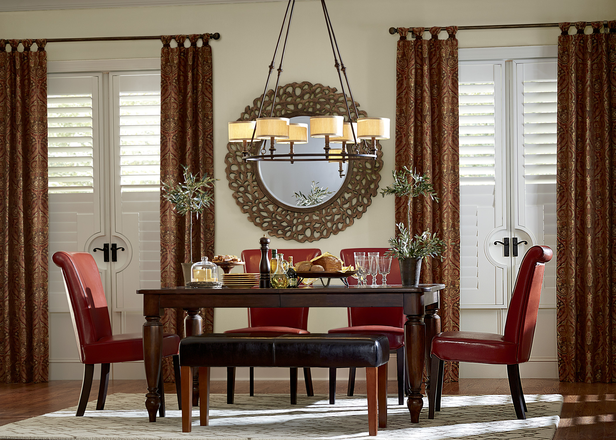Composite Shutters in Dining Room