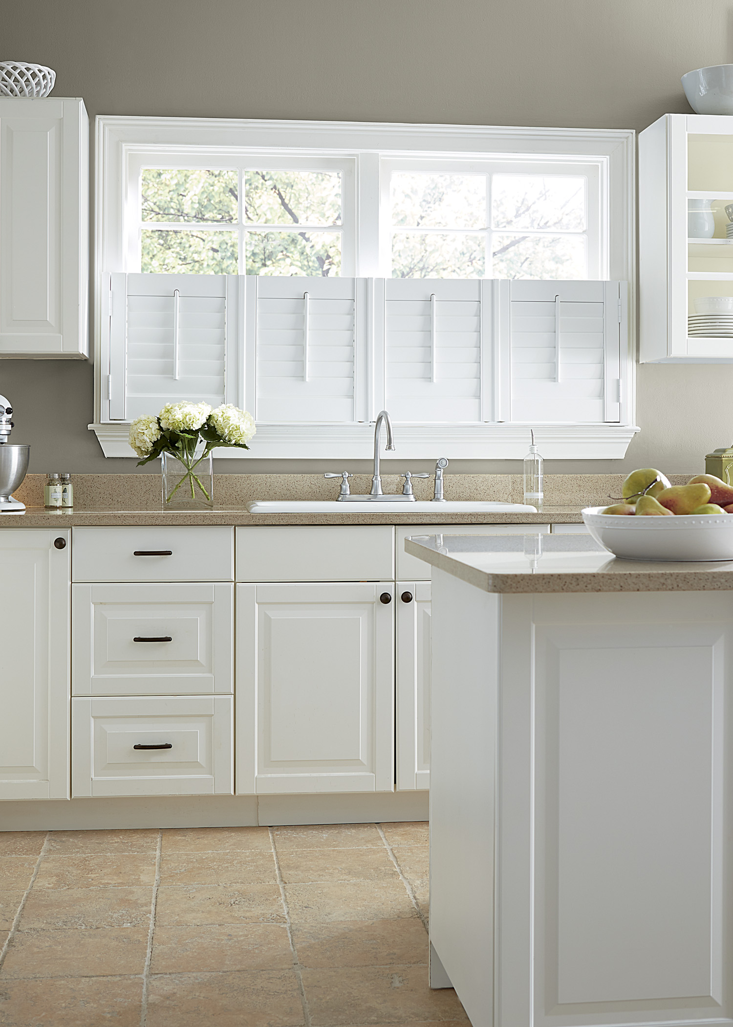 Composite Shutters in Kitchen