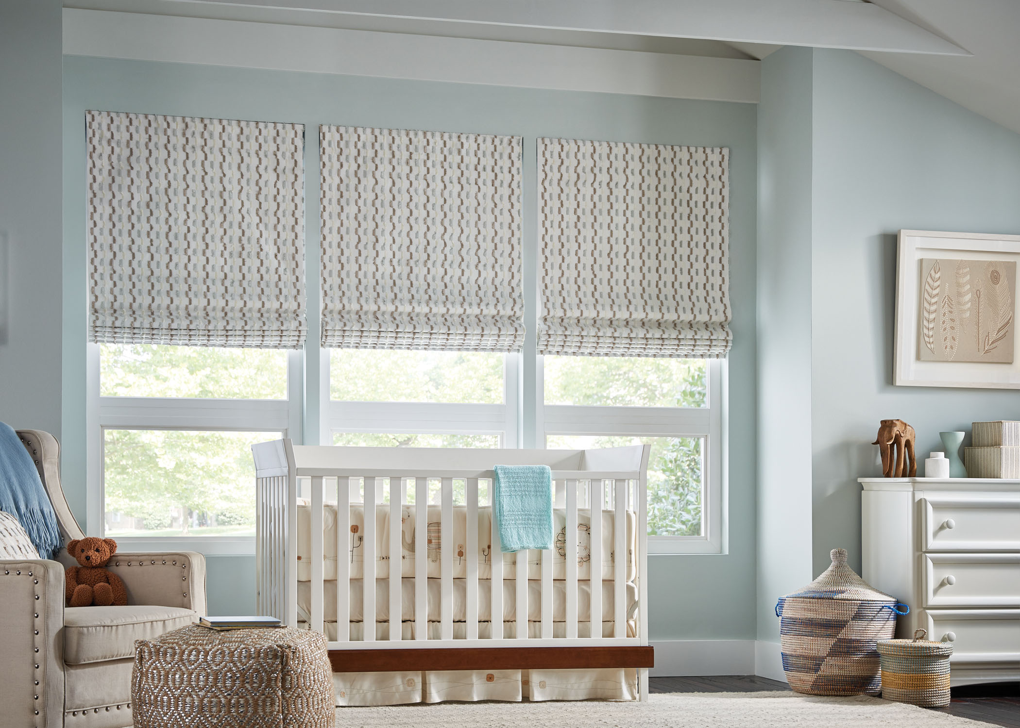 Fabric Shades - Nursery