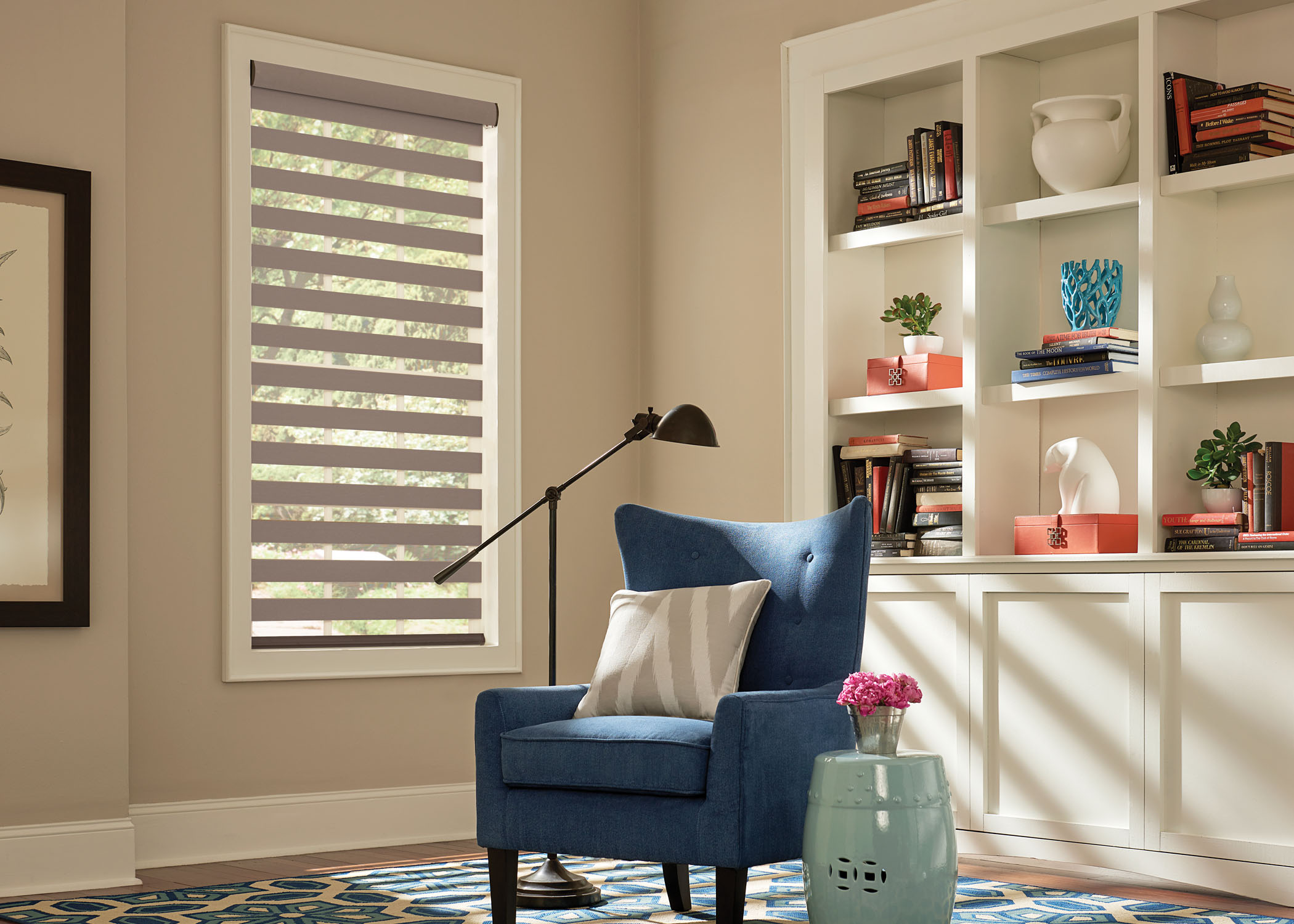 Graber Layered Study1 Southwestblinds Com