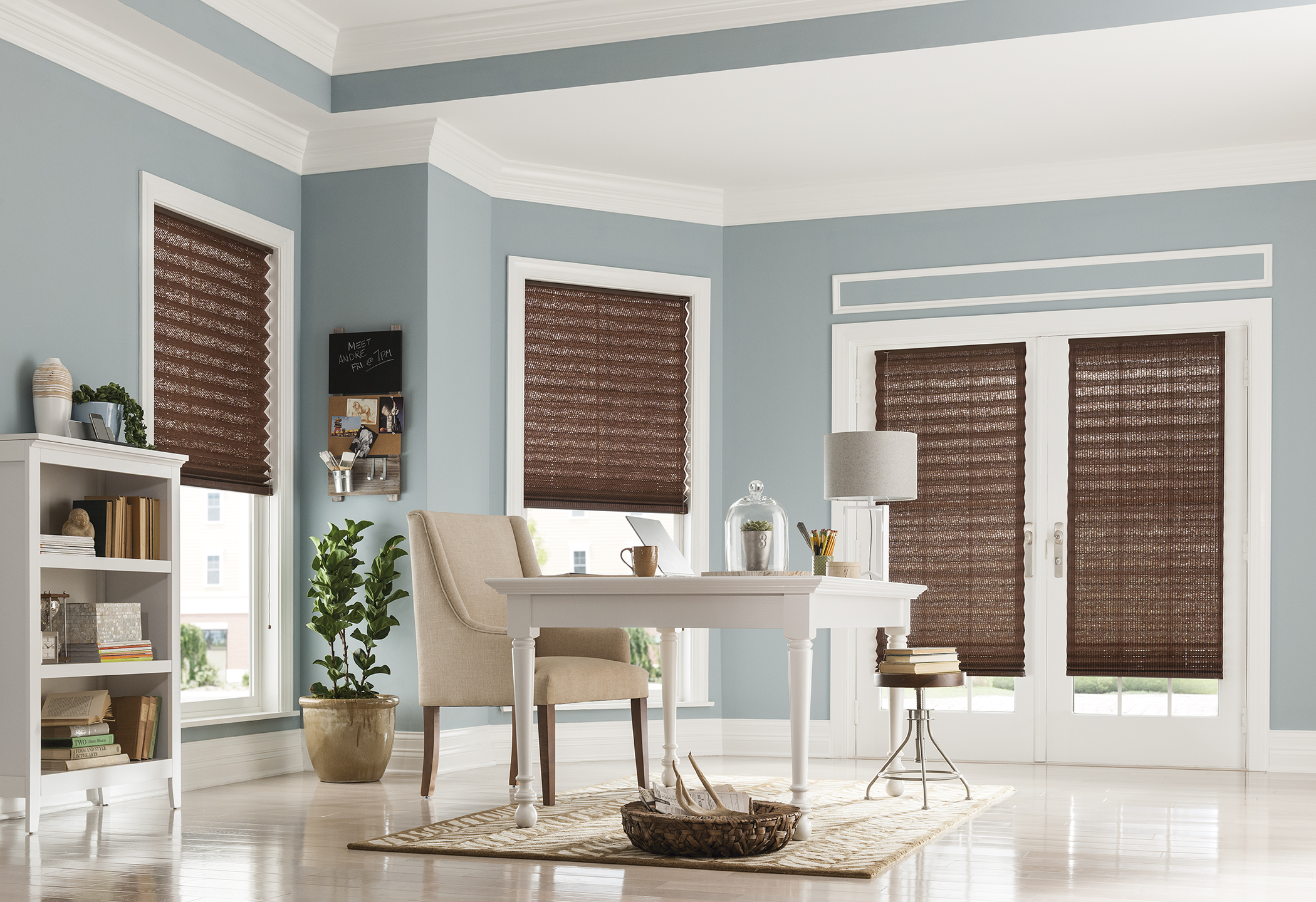 Pleated Blinds in Office