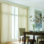 Sheer Vertical Blinds in Dining Room