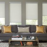 Motorized Shades in Living Room
