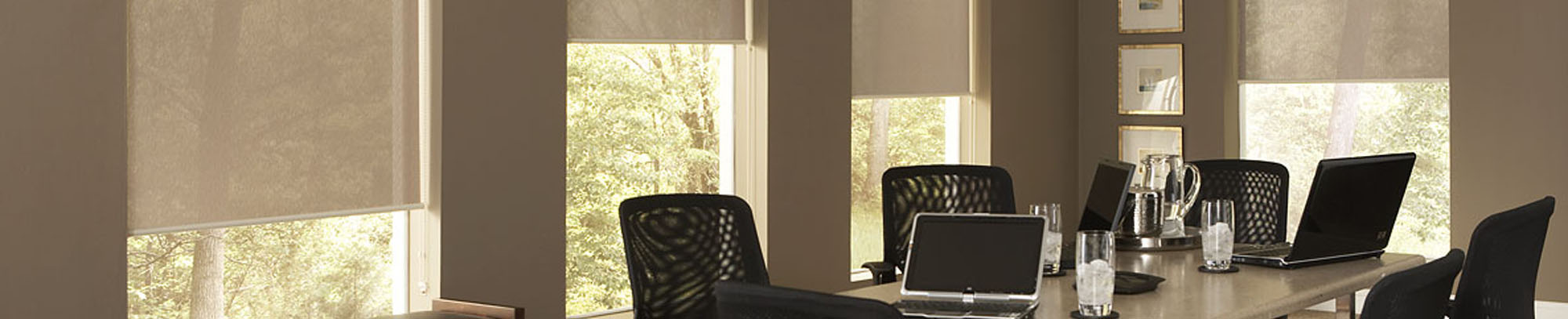 Motorized Shade in Office Setting