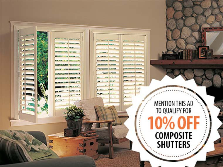 10% Off Composite Shutters Promotion