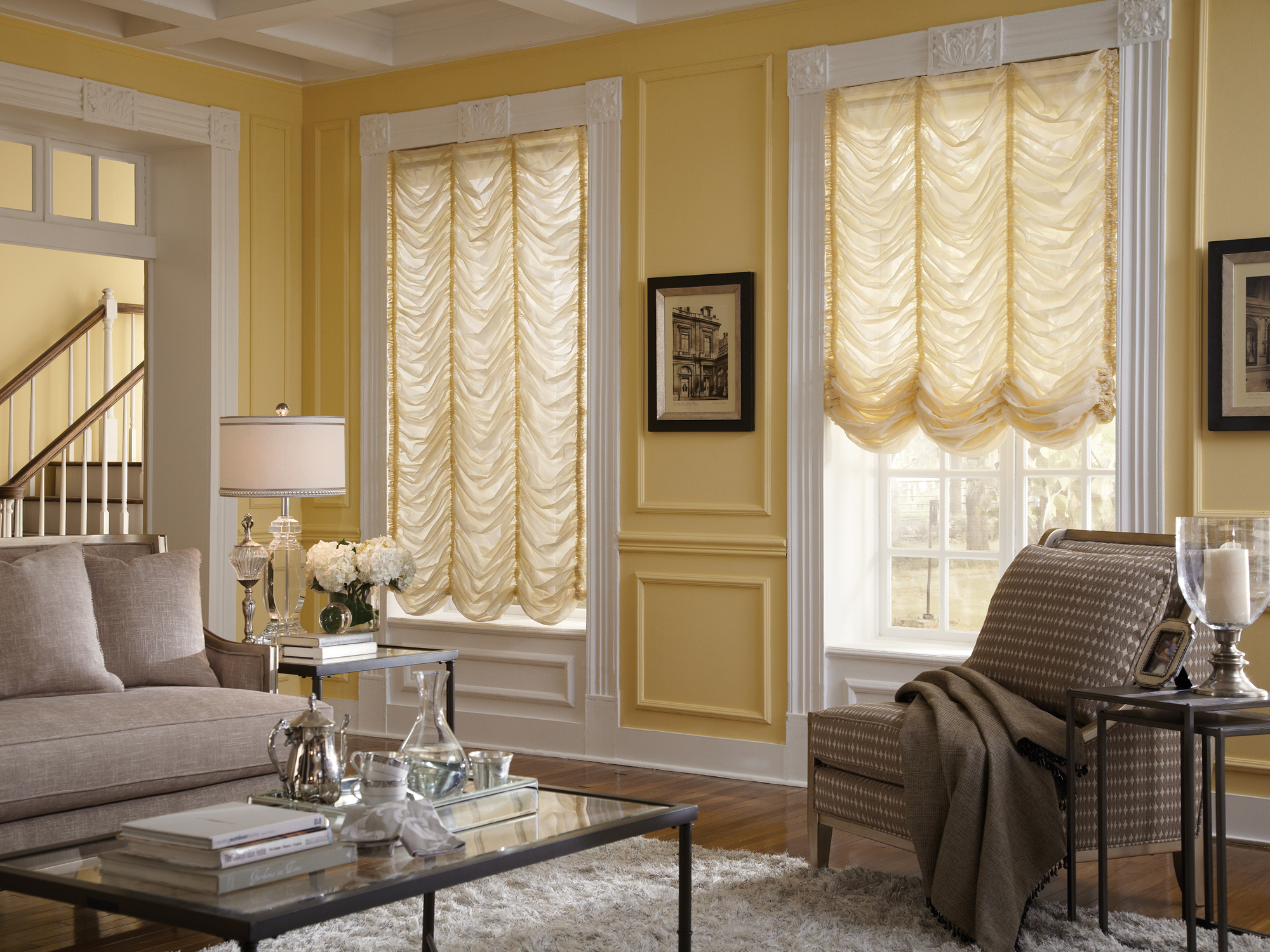 Drapes in Living Room