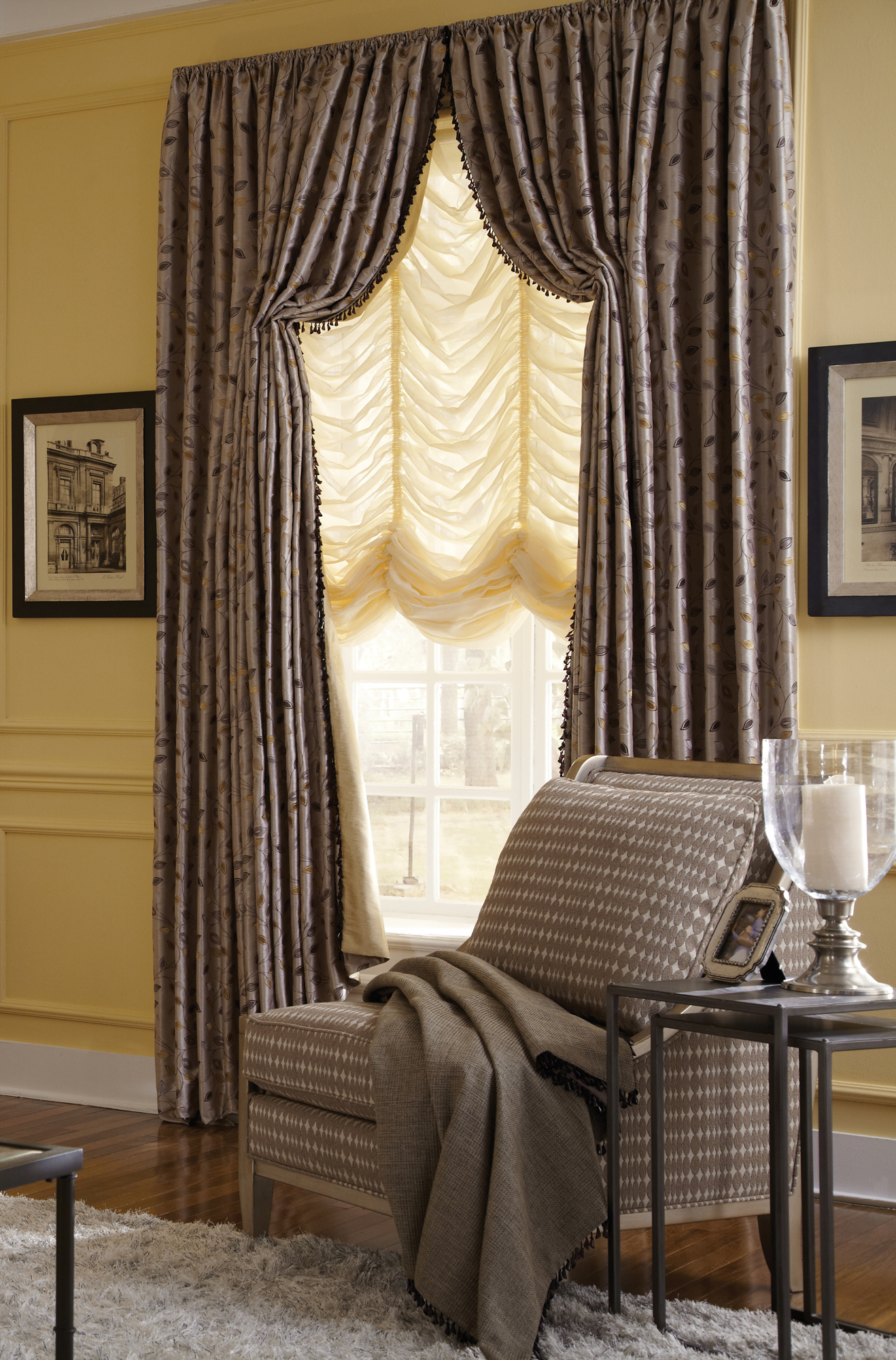 Drapes in Sitting Area