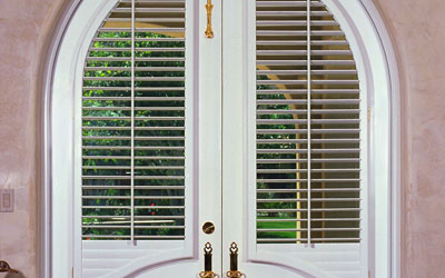 arched French door shutters