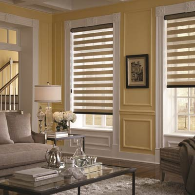 Beautiful Dual Shades in Phoenix by Southwest Blinds and Shutters