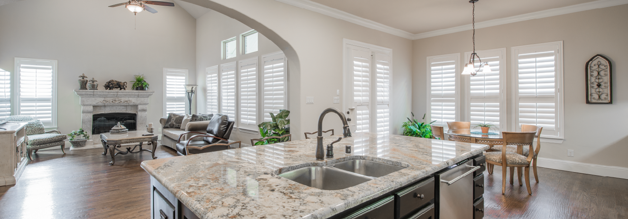 Remodel Kitchen with Southwest Shutters in Phoenix